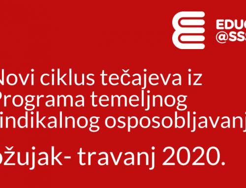 EDUCA@SSSH_Novi ciklus tečajeva (ožujak – travanj 2020.)