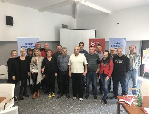 Trening timova za sindikalna povjereništva