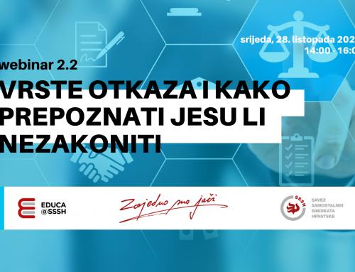 WEBINAR 2.2: Prijavite se na webinar o otkazima
