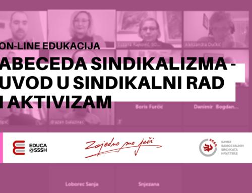 Još jedna on-line edukacija o sindikalnom radu i aktivizmu